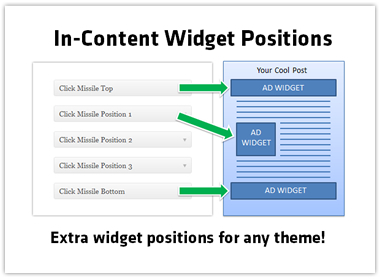WordPress Widget Positions In Your Content